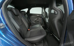 Rear recaro seats in Ford Focus RS