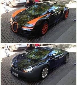 ford ka and veyron